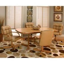 Atwood Dining Room Set With Leather Chairs