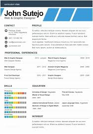 One Page Resume Elegante Elegant Template Of E