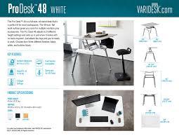 Varidesk Standing Desk Floor Mat by Full Standing Desk Pro Desk Series Varidesk Sit To Stand Desks