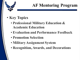 Awards And Decorations Air Force by Af Mentoring Program Developing Airmen Air Force Mentoring