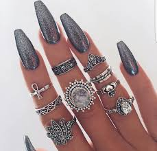 Nails Simple Grey Acrylic Nails Tutorials For Beginners 2018