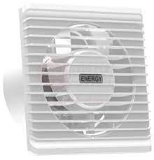 badventilator ø 100 mm in weiß lüfter ventilator front