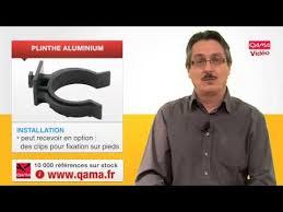 clip fixation plinthe cuisine plinthe en aluminium par qama