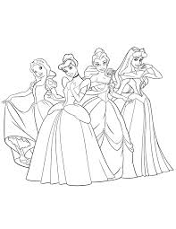 Disney Princesses Coloring Pages Printable