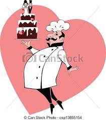Wedding Cake Baker Vector