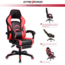 Reclining Gaming Chair With Footrest by Gtracing Chair Executive Gaming Chair Recliner Napping Chair With