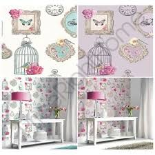 Image Is Loading ARTHOUSE MADELINE FRAMES SHABBY CHIC WALLPAPER BIRD CAGE