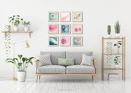 mini portfolio blüten 9er set naturfotografie kunstdrucke poster löwenzahn wohndekoration wandgestaltung wohnzimmer schlafzimmer