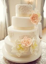 Modern Vintage Wedding Cakes Design Decor Theme Throughout Lace Cake Designs