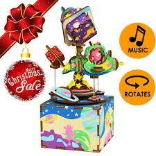 CHRISTMAS SALE Magical Universe Musical Box 3D Puzzle Craft Toy Top