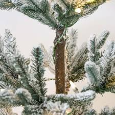 Artificial Silvertip Christmas Tree by Pre Lit Green Snow Effect Real Feel Pe Imperial Spruce Artificial
