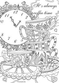 Coffee Time Free Coloring Page Get More Inspiration Pages From FavoReads