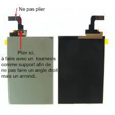 pliage nappe lcd iphone 3gs ou 3g pièces detachées iphone