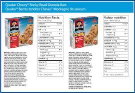 Snacks Granola Bars Hard Peanut USDA Nutrition Facts