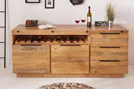 massives sideboard finca 175cm natur pinienholz industrial design mit flaschenhalterung kommode wohnzimmerschrank flaschenregal