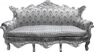 casa padrino barock sofa master silber muster silber wohnzimmer möbel lounge