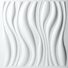 White 3d Wall Art Waves Design Wallpaper Square View Larger Previous Next Layered