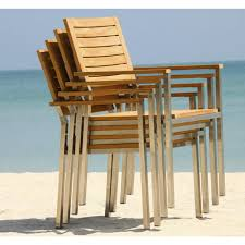 furniture teak stacking chairs arm chair view the