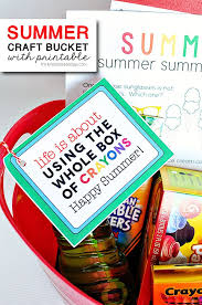 Summer Craft Bucket With Free Printable From ThirtyHandmadeDays For TidyMom