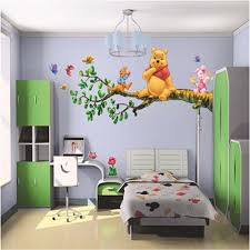 Wall Decal Winnie The Pooh by Animal Cartoon Winnie Pooh Vinyl Wall Stickers For Kids Rooms Boys