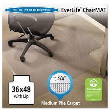 Carpet Chair Mat Walmart by Es Robbins Everlife 36 X 48 Chair Mat For Medium Pile Carpet