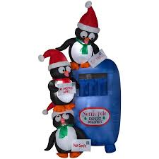 Holiday Living 6ft Lighted Penguin Christmas Inflatable At Lowescom