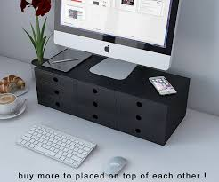 Monitor Shelf For Desk by Flat Panel Monitor Riser Stand Space Saver Workstation