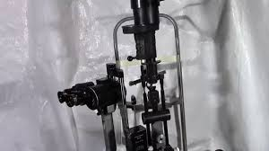Haag Streit Slit Lamp by Selling Used Used Tested Two Handed Swiss Made Haag Streit Bern