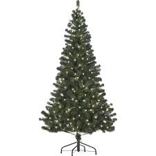 6ft Pre Lit Christmas Trees Black by Starlite 6 Ft Pre Lit Canadian Fir With Clear Lights Trees