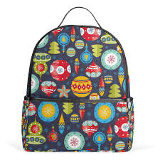 Amazoncom Christmas School Backpack Canvas Rucksack Large