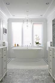 corner tv over tub transitional bathroom benjamin moore dove