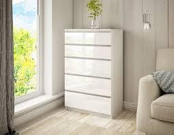 kommode schrank 5 schubladen weiß erle sonoma sideboard schlafzimmer c011