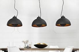 details zu pendelleuchte 3 flammig e27 retro schwarz gold edelstahl aluminium esszimmer