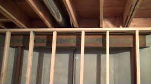Hanging Drywall On Ceiling Trusses by Gap Between Basement Wall And Ceiling Joist Mp4 Youtube
