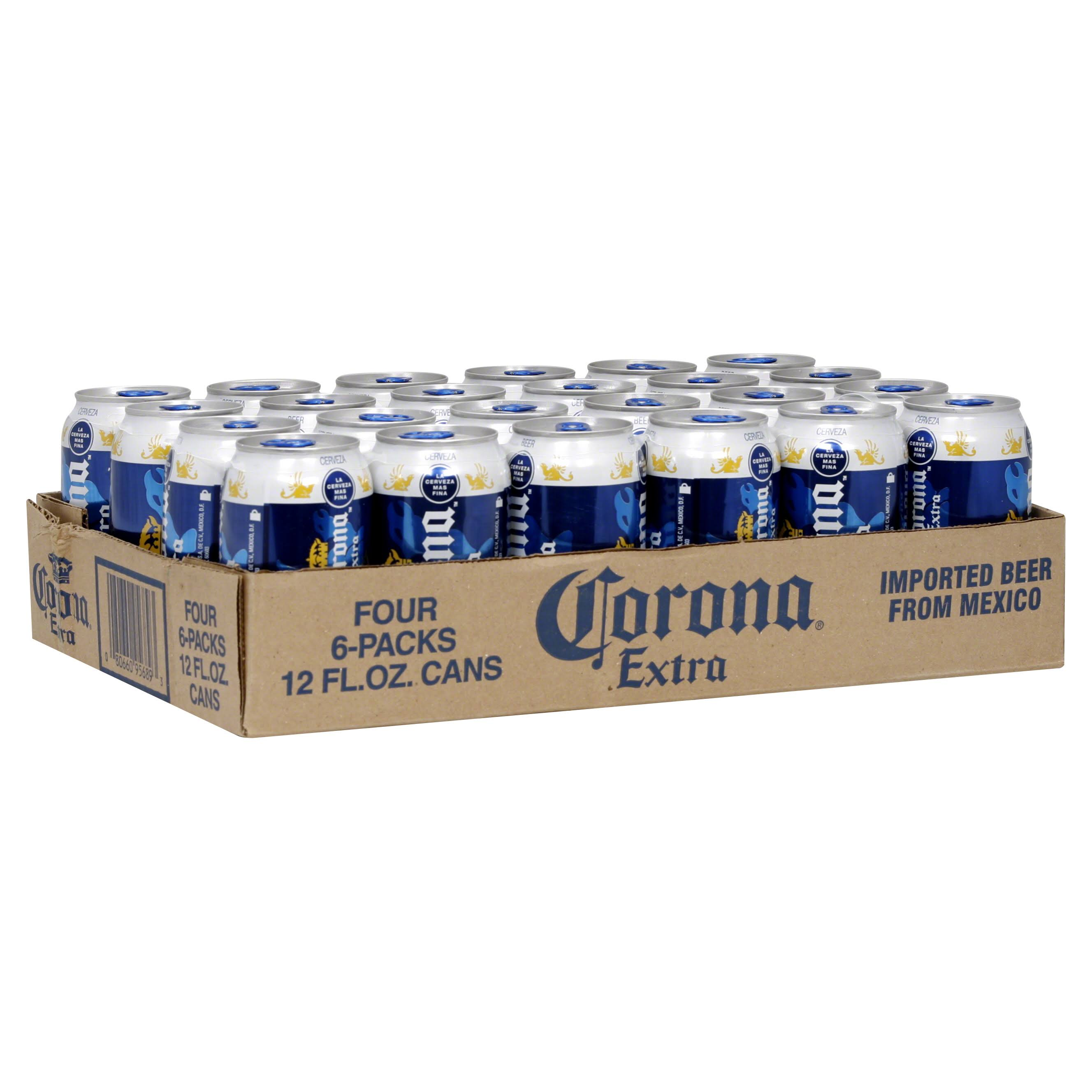 Corona Extra Beer - 4 - 12 fl oz can 6 packs