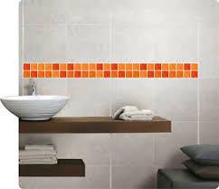 details zu mosaik bordüre orange fliesenaufkleber fliesenbild fliesen sticker fliesenimitat