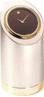movado chrome plated brass cylinder desk clock