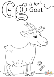 Letter G Coloring Pages Is For Goat Page Free Printable Kids