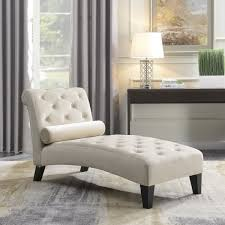 BELLEZE Chaise Lounge Leisure Chair Rest Sofa Couch Indoor Home Office Living Room Furniture Lumber Pillow Beige
