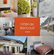 carte commerciale de l hôtel biencourt picture of hotel de