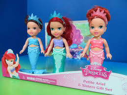 Disney Little Mermaid Bathroom Accessories by New Petit Ariel And Sisters Gift Set The Little Mermaid Play
