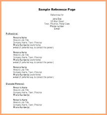Listing References On Resume Sample Reference Template For Professional Bio Example Page Job Pag