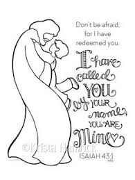 I Have Called You By Name Boy Coloring Page 85X11 Bible Journaling Tip