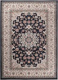 carpeto orientteppich teppich schwarz 300 x 400 cm medaillon klassisch muster wohnzimmer schlafzimmer esszimmer