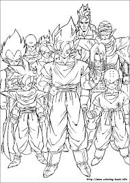 Dragon Ball Z Printable Coloring Pages