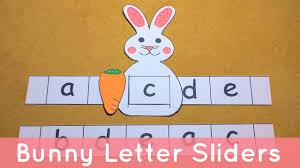 Bunny Letter Sliders
