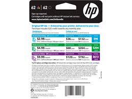 HP 62 Black Tri Color INSTANT INK Enrollment Kit