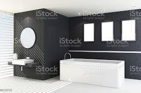 moderne badezimmer in schwarz stockfoto und mehr bilder altertümlich
