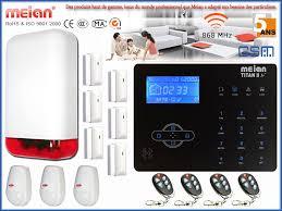 alarme maison sans fil gsm meian titan 2 et sirène extérieur