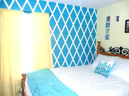 Diy Bedroom Wall Paint Ideas Painters Tape Designs Large Image For Diamond Design Painted